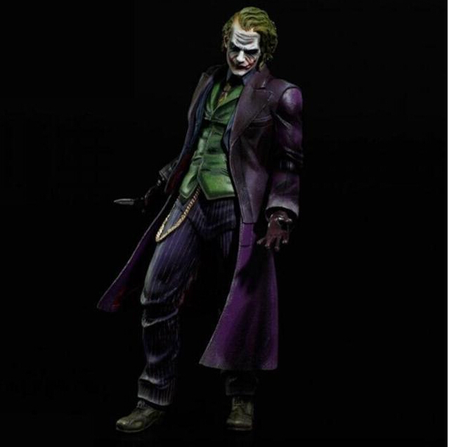 Joker Action Figure Play Arts Kai Bat Man 250MM Anime Model Toys Bat-man Playarts Joker Figure Toy batman joker action figure play arts kai 260mm anime model toys batman playarts joker figure toy
