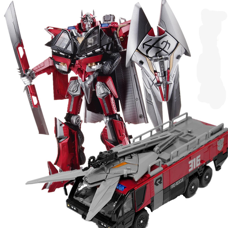 HSB Transformation Sentinel Prime Commander Movie Dark Of The Moon Leader Action Figure Fire Truck Mode KO Robot Model Toys