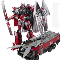 HSB Transformation Sentinel Prime Commander Movie Dark Of The Moon Leader Action Figure Fire Truck Mode KO Robot Model Toys