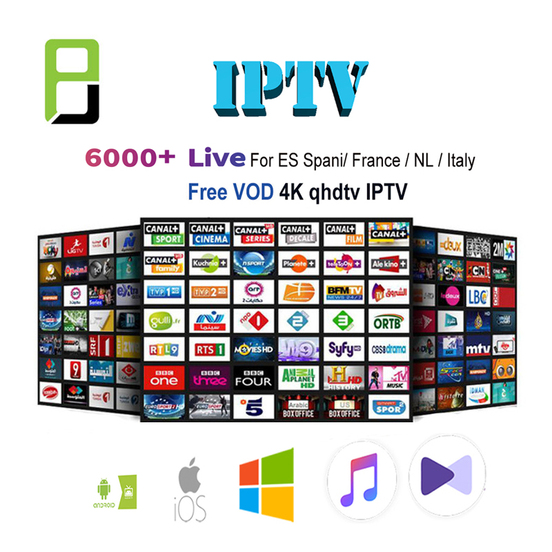 Android Tv Box Subscription With 6000+ Spain French Portugal Italia Poland GermanTurkey UK  Box  Leadcool  Beelink Ap34 Pro