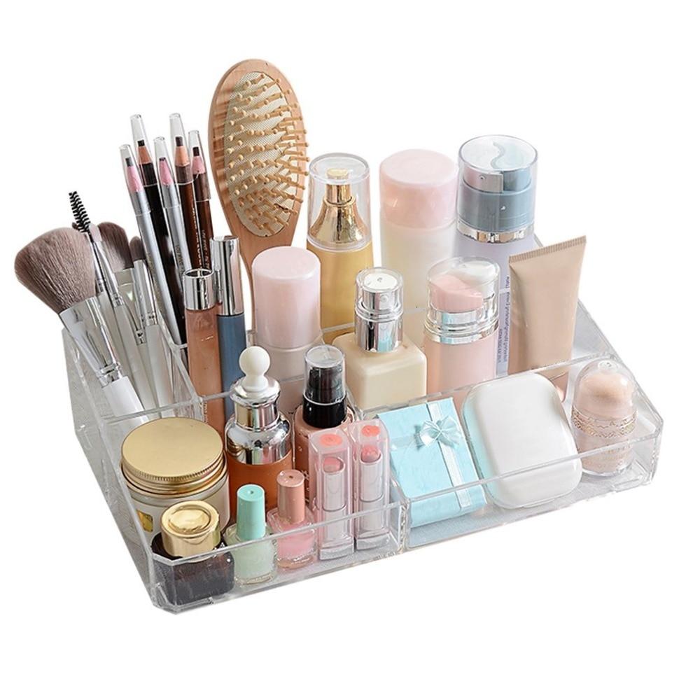Acrylic Makeup Organizer Office Organizer Box Cosmetic Plastic Storage Box Desk Bathroom Cosmetic Storage Case 315*190*80mm