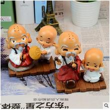 The old monk monk resin decoration Home Furnishing resin crafts creative ornament lovely birthday gift monk malatesta monk