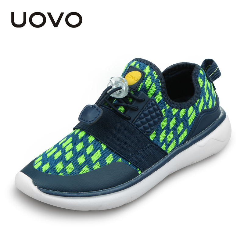 UOVO Boys and Girls Fashion Sport Shoes Slip-on Breathable Children Shoes Light-weight Kids Shoes High quality baijiami 2017 new children solid breathable slip on pu casual shoes boys and girls spring summer autumn flat bottom shoes