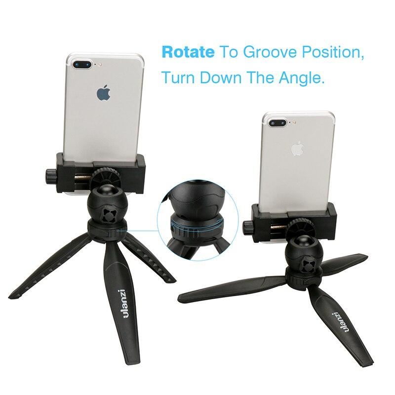 Ulanzi телефон Крепление для штатива адаптер Универсальный смартфон штатив держатель для <font><b>iPhone</b></font> 6 6S <font><b>7</b></font> <font><b>Plus</b></font> Samsung Huawei Xiaomi youtube