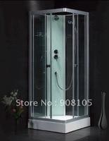 С верхним душем/ручной держатель для душа/шампунь/закаленное стекло душевые кабины