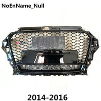 1PCS RS3 Style Black Honeycomb Mesh Front Bumper Grille For Audi A3 S3 2014 2016 Car Styling