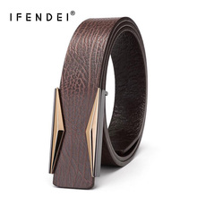 IFENDEI Brand Belt Men s Leather First Layer Of Buckle Belts Strap Male Genuine Ceinture Homme Cuir Veritable