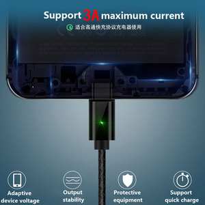 Image 4 - Üçü Bir Arada Manyetik Enayi Veri Kablosu Tipi C Uygulama Apple Android Dokuma Şarj Manyetik Kablo Yayan göstergesi