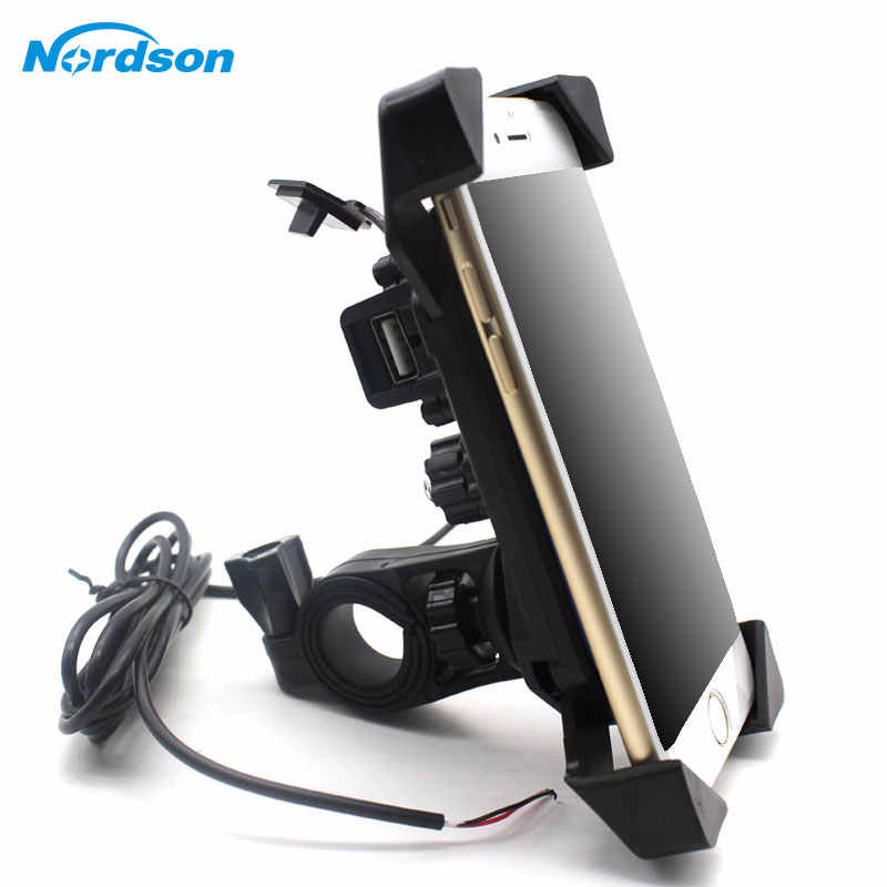 NEW Motorcycle Phone Holder With USB Charger Mobile Phone Holder for Electric Car Motorbike Mountain Bike Holder