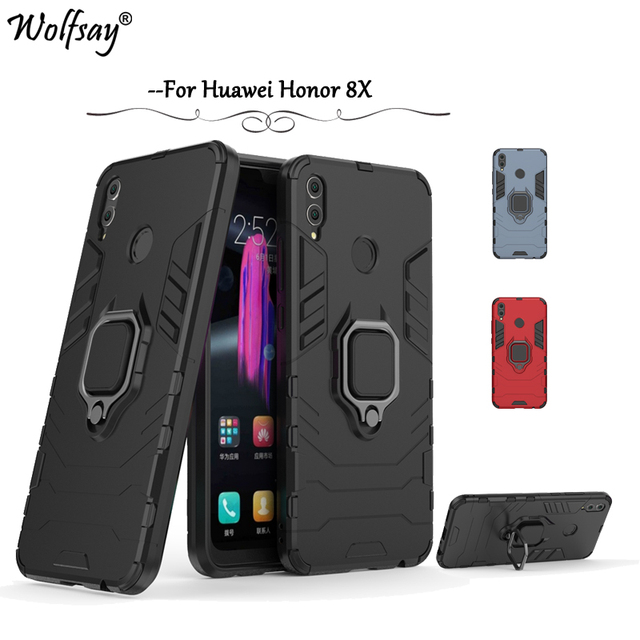 online store fc4d6 7b745 US $2.85 32% OFF|Huawei Honor 8X Phone Case Magnetic Metal Finger Ring  Holder Case For Huawei Honor 8X Silicone Cover Huawei Honor 8X Back  Cover-in ...