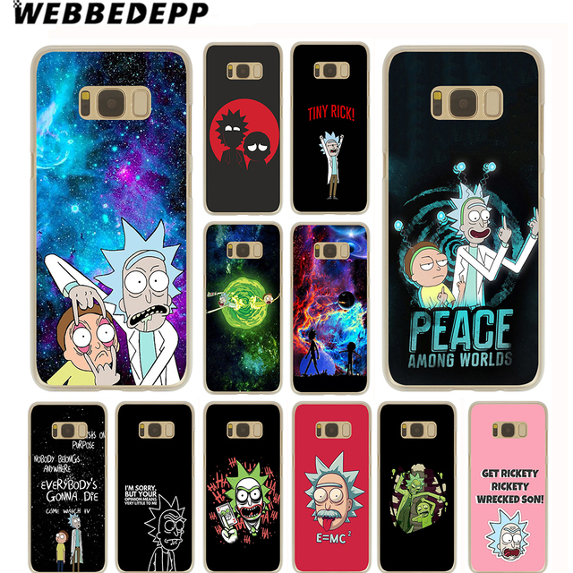 newest a6152 643c5 US $1.97 14% OFF|WEBBEDEPP Rick And Morty Case for Samsung Galaxy S10 S10E  S9 S8 Plus S7 S6 Edge & Note 8 9 Phone Cover-in Half-wrapped Case from ...
