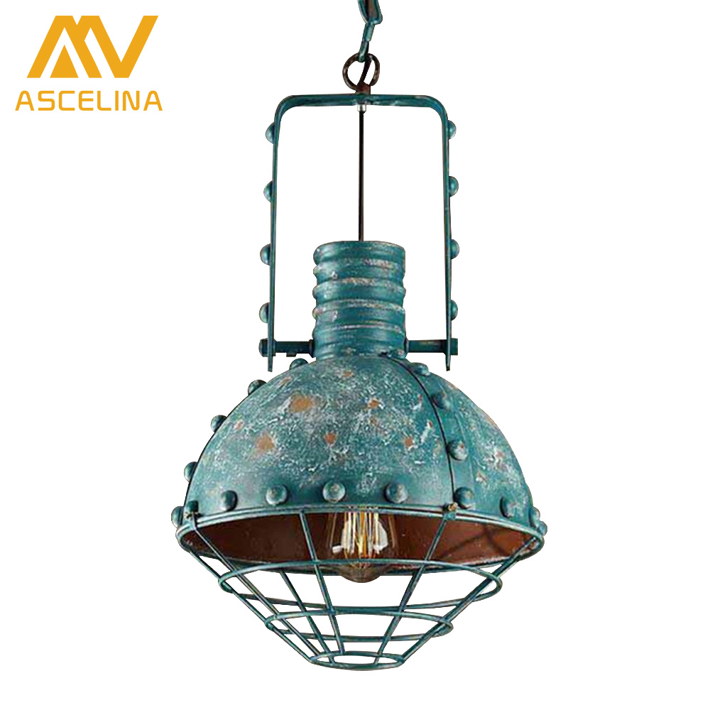 creative personality retro restaurant bar American country wrought iron chandelier industrial style Single head pendant lamp american retro nostalgia industrial loft style cafe restaurant bar wrought iron chandelier antique pot bedroom single head lamp