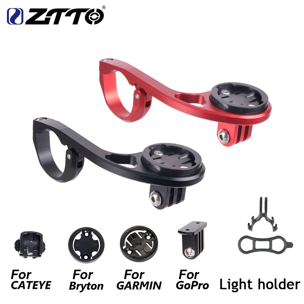 MTB Bike Computer Mount For 31 8 25 4mm Handlebar Adjustable Compatible For GARMIN Edge Cat Eye Bryton Fit Gopro Camera in Bicycle Handlebar from Sports Entertainment