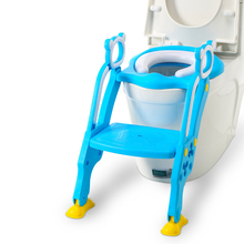 Enfant Toilettes Baby Toilet Seat Child Potty Folding Toilet Trainer Seat Chair Step With Adjustable Ladder Children Potty Seat