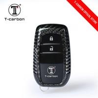 Carbon Fiber 2 buttons Car Key Case For Toyota Highlander Camry Crown RAV4 Reiz Corolla Key Cover Auto accessories
