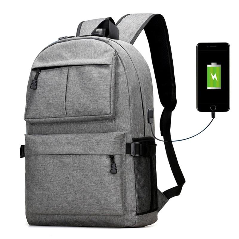 Zhierna Usb Laptop Backpack School Bag College Men For Teenager Girls Women Casual Oxford Canvas Rucksack Book Bag Unisex Design