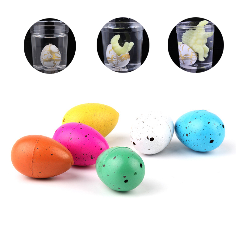 Novel Water Hatching Inflation Dinosaur Egg Watercolor Cracks Grow Egg Educational Toys Interesting Gift For Kids