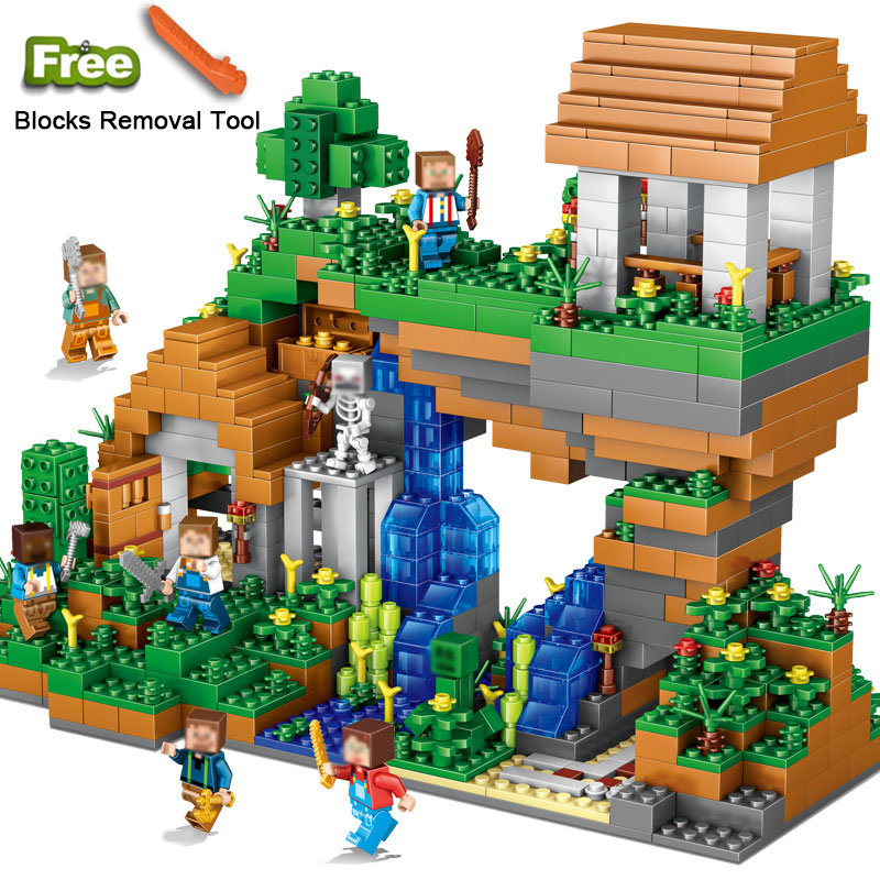 Qunlong 0507 My World Water Falls Building Blocks Figures Bricks Toys Educational Toy For Kids Compatible Legoe Minecraft City water world орхидея 550 2 двери белый глянец