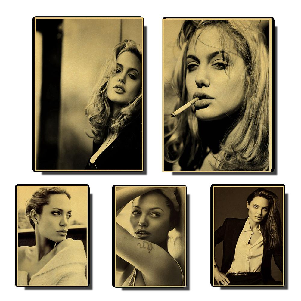 Angelina Jolie Vintage Posters Retro Poster Prints Wall Painting High Quality Decor Poster  Home Personalised Room Decoration
