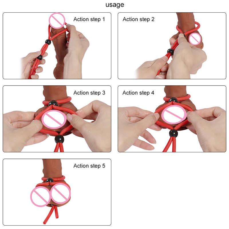 Detail Feedback Questions about Adjustable Penis Rope Cock Ring ...