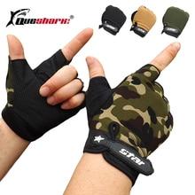 Новые тактические перчатки для рыбалки на пол пальца, противоскользящие мужские спортивные варежки для улицы, камуфляжные перчатки для страйкбола, охотничьи перчатки, S-2XL