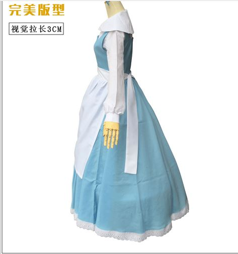 Beauty and the Beast princess belle maid adult women party carnival Cosplay Costume Halloween party fancy Costume Suit Dress