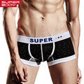 Superbody Brand 2017 New Basic Men Underwear Boxer Shorts Cotton Trunks Gay Penis Pouch WJ Sexy Designed Low Rise Men's Boxers