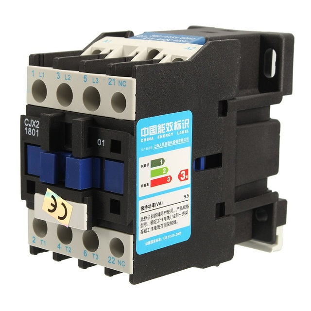 New Arrival AC Contactor Motor Starter Relay CJX2 1801 3 POLE+1NC ...