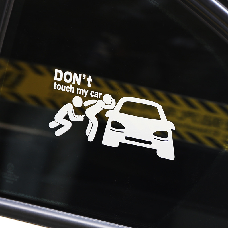 Free Shipping DONT TOUCH MY CAR funny creative car sticker reflective and waterproof window stickers