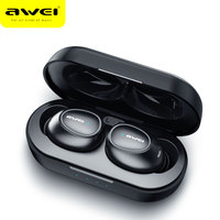 Awei T6C TWS Bluetooth Earphone Wireless Earbuds Sport Stereo Earphones Dual Microphone Headset With Charging Case For Phones