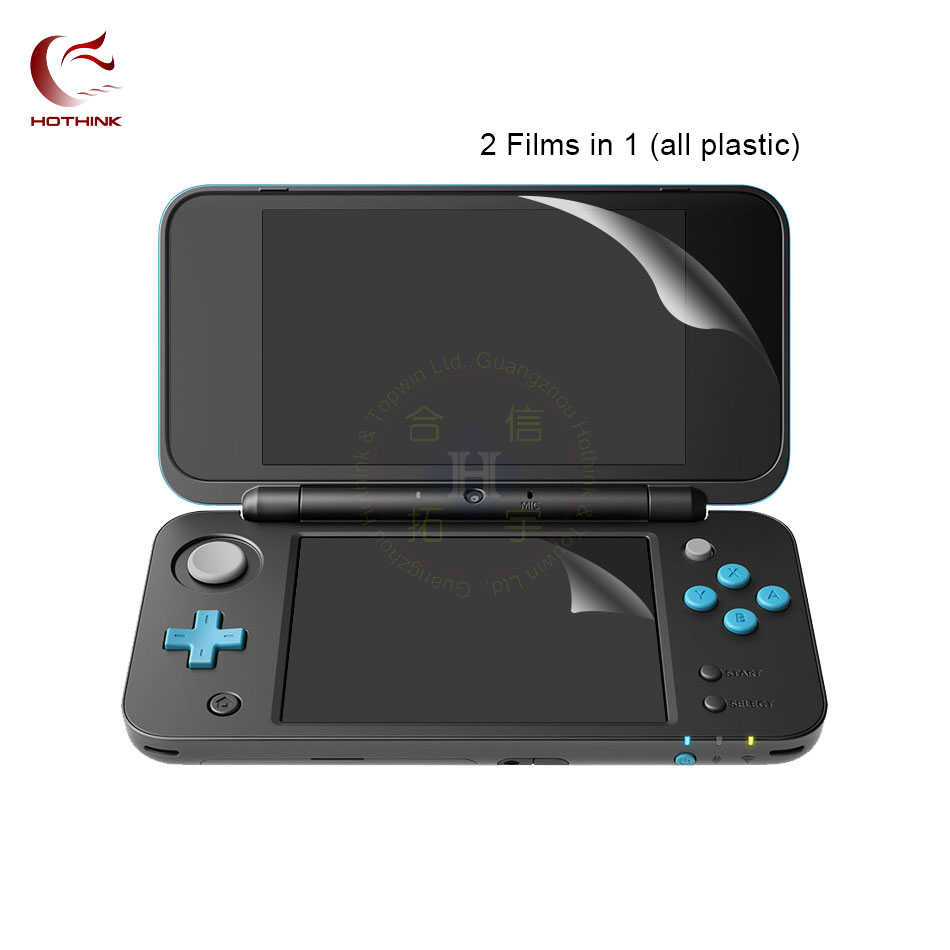 HOTHINK 2pcs/lot Top Upper Screen Protector Film + Bottom Film For Nintendo NEW 2DS XL / 2DS LL accessories