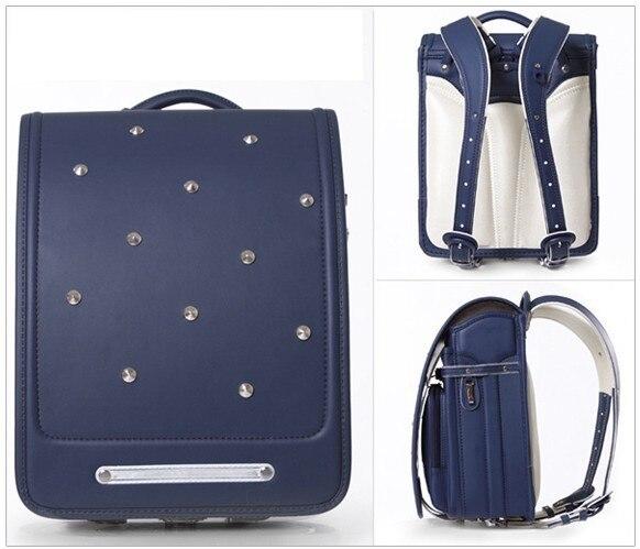 Кулоновского 2016 роскошные рюкзак японский randoseru заклепки аксессуары средний размер 8 цвет
