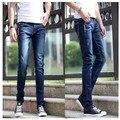 2016 New Arrival Spring Men's Pencil Jeans Men Slim Pants The Hole Fashion Casual Denim Comfortable Pants Trousers 13M0130