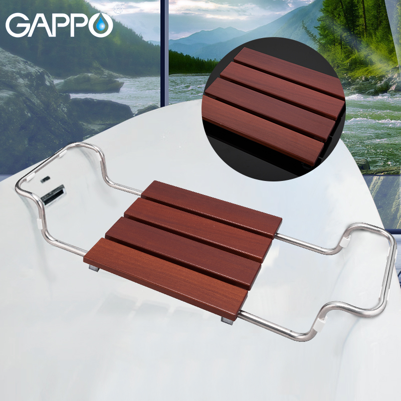 GAPPO Bathroom Chairs & Stools bathtub shower seat relax chair shower chair solid wood stainless steel shower seat GAPPO Bathroom Chairs & Stools bathtub shower seat relax chair shower chair solid wood stainless steel shower seat
