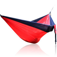 Single Double Hammock Adult Outdoor Backpacking Travel Survival Hunting Sleeping Bed Portable With 2 Straps 2 Hammock Carabiner(China)