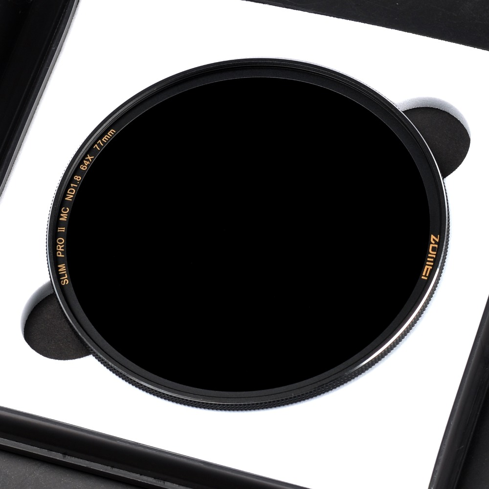 Zomei Optical Glass Slim Neutral Density Camera ND filter ND8/ND64/ND1000(3.0) Multi-coated 49/52/55/58/62/67/72/77/82mm