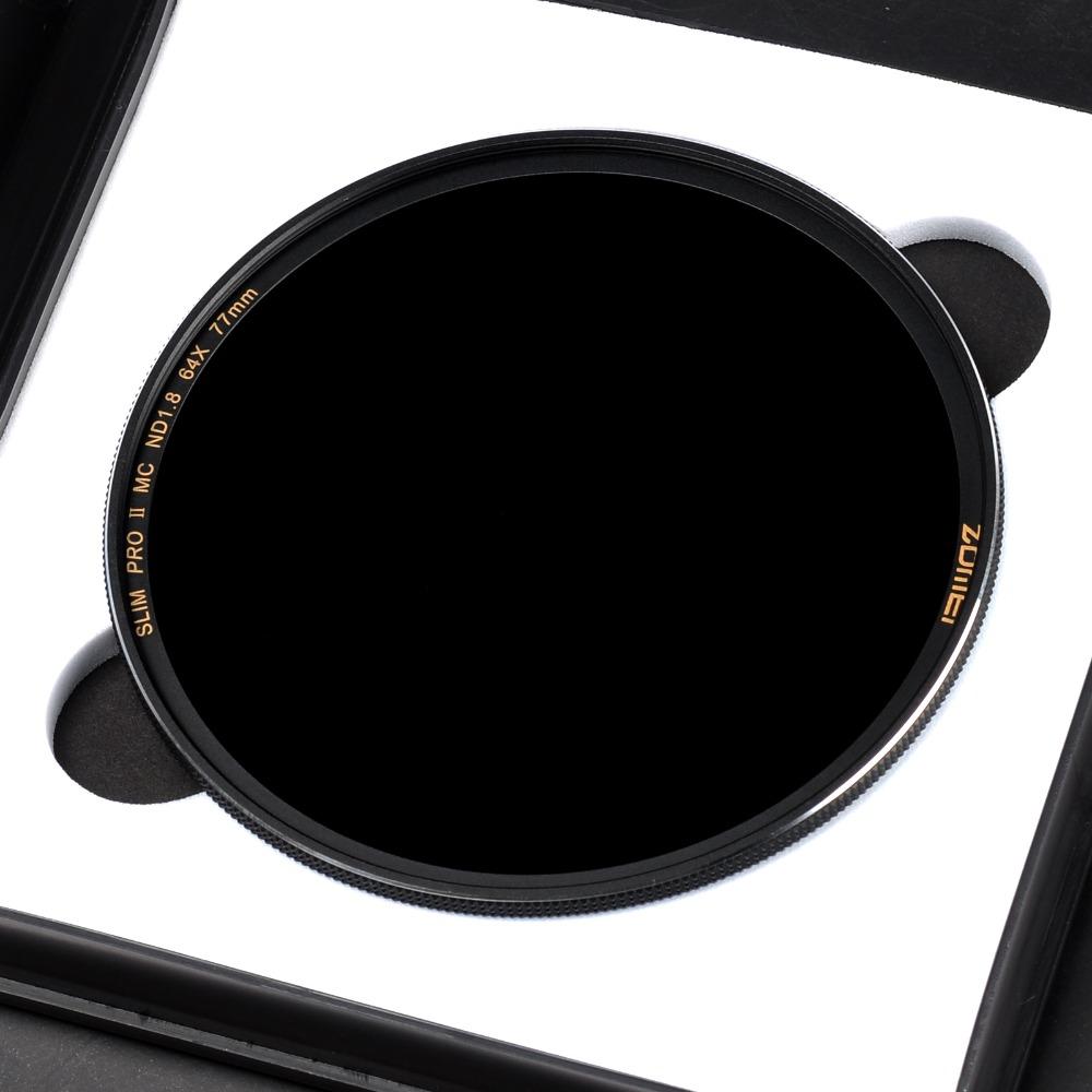 Prix pour Zomei Optique En Verre Mince Densité Neutre Caméra ND filtre ND8/ND64/ND1000 (3.0) Multi-enduit 49/52/55/58/62/67/72/77/82mm