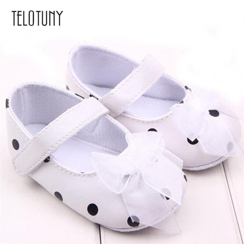 TELOTUNY Bowknot Baby Shoes Newborn Shoes Soft First Walker Anti-skip Backing Princess Shoes Anti-slip Crib Shoes S3FEB15