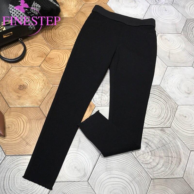 Femmes de Noir Crayon Pantalon 2019 Marque De Mode Pleine Longueur Pantalon Pour Les Filles