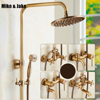 Bathroom antique shower set with ceramic wall shower faucet antique shower set Antique Shower Bathtub hot&cold Faucet Sets