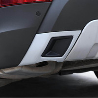 Tail bumper rear exhaust end pipe decorative trim cover sticker for land range rover discovery 5 LR5 Exterior Accessories