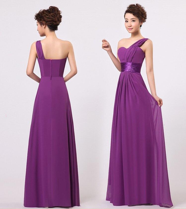 Vestido de noiva de Un Hombro Gasa Formal de la Boda Vestidos de ...