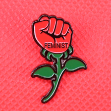 Jackets-Accessory Feminism Flower-Girl Brooch Jewelry Power-Badge-Future-Is Enamel-Pin