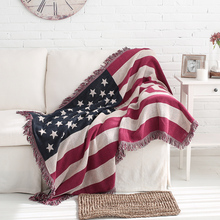 American Retro British Style Sofa Towel Blanket Carpet Sofa Cushion Sofa Cover Dust-proof Mat Cotton Fabric