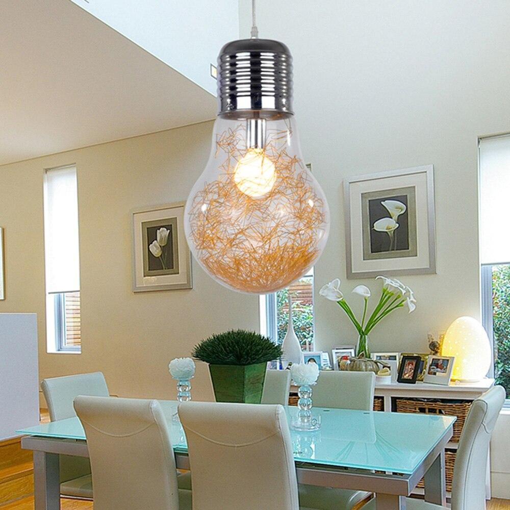 Նորաձև մեծ լամպի ճաշասենյակ կախազարդ - Ներքին լուսավորություն - Լուսանկար 6