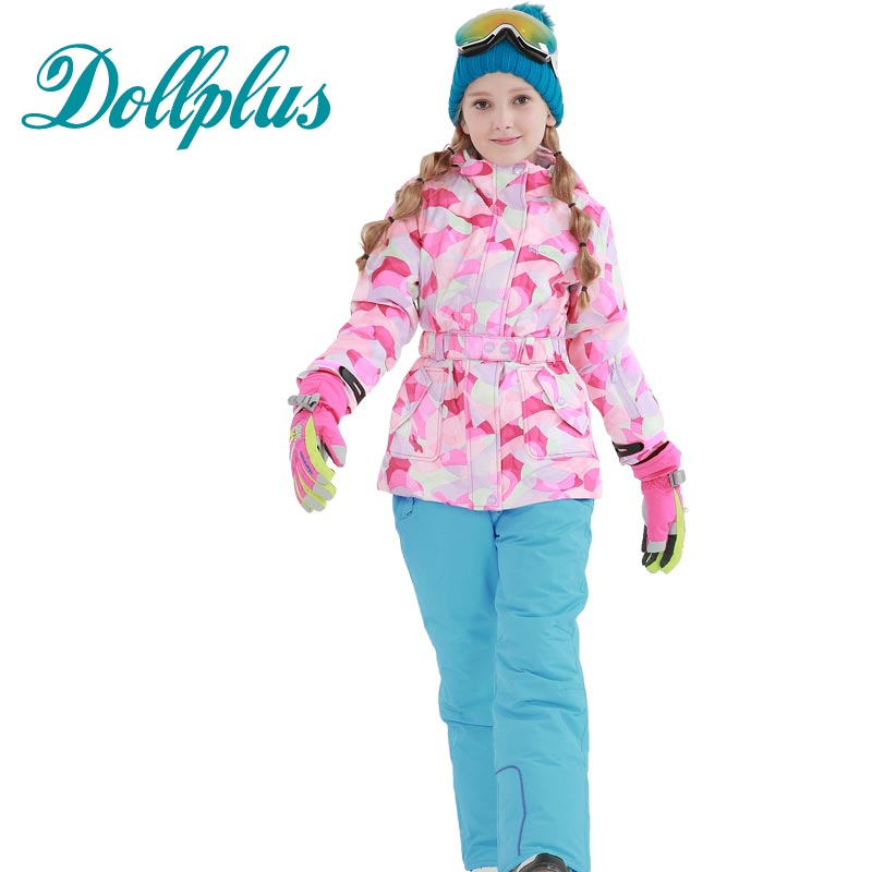 Boys Girls Winter Ski Clothes Kids Child Suits Waterproof Windproof Jackets Sets Children Snow Warm Outerwear