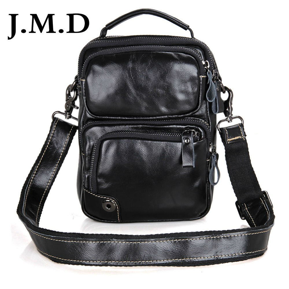 J.M.D High Quality Vintage Real Leather Men Shoulder Messenger Bags Shoulder Bag For Boy Handbags 1010A