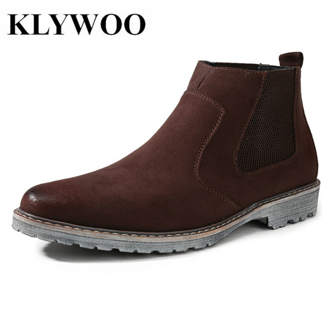 235c55ef357c0 KLYWOO Brand Men Boots Handmade Breathable Men s Oxford Shoes High Top Dress  Shoes Men Boots Fashion Leather Casual Shoes Men