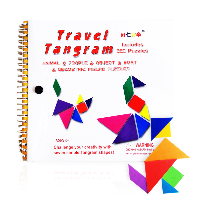 150/176/360 Jigsaw Puzzle Magnetic Travel Tangram Educational Kids Toy Challenge Iq Magic Book For 3-100 Years A Gift For Family