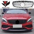 W117 GT-Style ABS Серебряная Автомобильная Передняя решетка для гонок для Mercedes-Benz CLA180 CLA200 CLA220 CLA250 CLA260 2013-2018